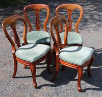 1900's Set of 4 Mahogany Hoop Back Chairs with Pop-out Seats (2 of 3)