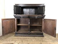 Antique 19th Century Carved Oak Court Cupboard (23 of 24)
