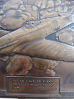 Bronzed Metal Calendar Signed Alex Henshaw MBE 1941 (8 of 13)