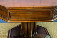 19th Century Mahogany Library Table. Drum or Rent Table (4 of 9)