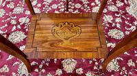 Pair of French Parquetry / Marquetry Side Tables (12 of 20)