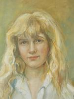 Portrait of a Girl Oil on Canvas (2 of 8)