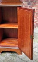 Edwardian Mahogany Wood Inlaid Bedside Cabinet (6 of 7)