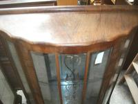 Bow Front Walnut Display Cabinet (2 of 2)