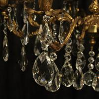 Italian Gilded Brass 8 Light Antique Chandelier (7 of 9)