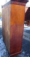 1900s Handsome 2 Door Mahogany Wardrobe All Hanging Drawers at Base (3 of 4)