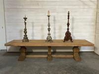 Enormous French Bleached Oak Farmhouse Dining Table (9 of 38)