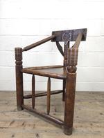 Antique Carved Oak Corner Chair (8 of 10)