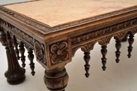 Antique Carved Marble Top Coffee Table (12 of 14)