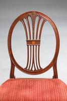 Pair of George III Hepplewhite Oval Backed Chairs (4 of 4)