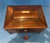 Regency Sarcophagus Rosewood Jewellery Box (6 of 15)