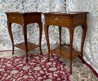 Pair of French Parquetry / Marquetry Side Tables (4 of 20)