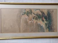 Three Japanese original ink/ watercolour lanscape paintings circa mid. 20th Century (13 of 20)