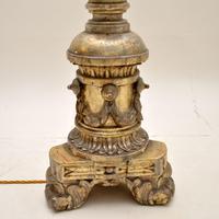 Pair of Antique Italian Silver Gilt Floor Lamps (4 of 12)
