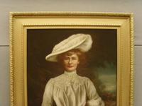Oil Portrait Lady Dunbar Of Mochrum by John Horsburgh 1835-1924 Large Paintings (3 of 12)
