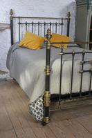 Handsome Victorian Naturally Aged Brass & Iron King Size Bed (8 of 8)