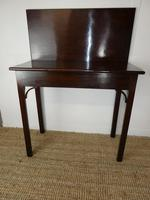 Neat English 18th Century Turn Over Side Table (4 of 8)