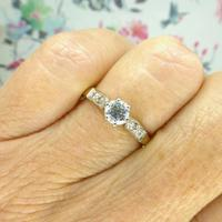 Art Deco 18ct Platinum Diamond Solitaire Engagement Ring 0.35ct (8 of 10)