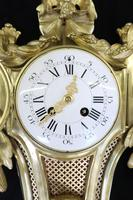 French Louis XVI Style Bronze Gilt Cartel Wall Clock (3 of 7)