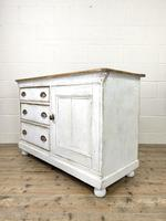 Distressed Antique Pine Cupboard with Painted Base (8 of 10)
