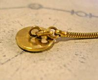 Vintage Pocket Watch Chain 1970s 12ct Gold Plated Albert & Ornate Button Hole Fob (9 of 10)