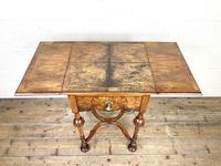19th Century Walnut Drop Leaf Side Table (9 of 11)