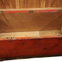 Regency Red Leather Camphorwood Trunk (7 of 8)