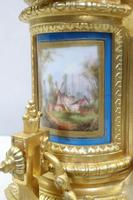 French Napoleon III Bronze Gilt and Porcelain Mantel Clock by Japy Freres (7 of 11)