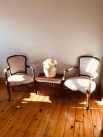 French Antique Chairs / French Salon Armchairs / Pair of Louis XV Chairs / Fauteuils (9 of 10)