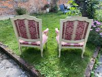 Pair of Large Painted Armchairs (7 of 9)