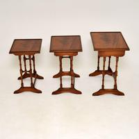 Antique Georgian Style Mahogany Nest of Tables (3 of 10)