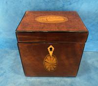 18th Century Harewood Inlaid Single Mahogany Tea Caddy (5 of 18)