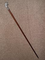 Vintage Hallmarked 925 Silver Walking Stick / Cane With Snarling Tiger Handle 91cm (19 of 21)