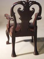 A Pair of Finely Carved Early 20th Century Mahogany Armchairs (3 of 7)