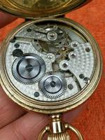 A.W.C CO Empress Canada Case, Swiss Movement Full Hunter Pocket Watch Gold Plated (5 of 7)