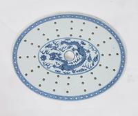 Chinese 19th Century Blue & White Oval Strainer Dish (7 of 7)