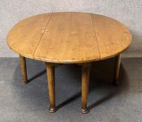 Solid Oak Gateleg Coffee Table / Drop Leaf Coffee Table (6 of 7)