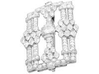 4.90ct Diamond & Platinum Brooch - Art Deco c.1925 (3 of 9)