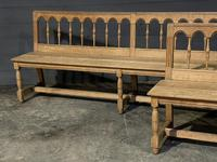 Pair of French 19th Century Dining Benches (3 of 15)