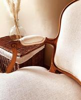 French Antique Style Chairs / Louis XV Armchairs / Walnut Chairs / Fauteuils (3 of 8)
