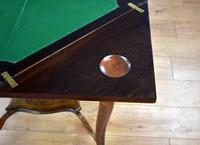Victorian Rosewood Envelope Card Table (9 of 12)