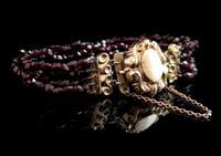 Victorian Bohemian Garnet Bead Bracelet (2 of 11)
