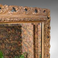 Antique Bevelled Mirror, English, Gilt Gesso, Overmantel, Hall, Victorian, 1900 (6 of 10)