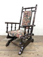 Antique Child's American Rocker Rocking Chair