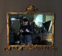 Good Quality Edwardian Gilt Overmantle Mirror (5 of 11)