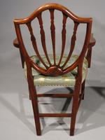 Exceptional Pair of George III Period Hepplewhite Elbow Chairs (5 of 7)