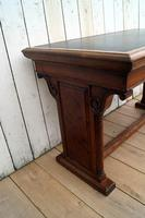 Leather Top Library Table (5 of 9)