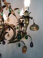 Murano Glass Fruit Venetian 6 Arm Toleware Ceiling Light Chandelier (9 of 9)