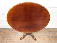 Antique Mahogany Tilt Top Table (2 of 7)