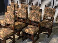 Set of 8 French Oak Dining Chairs (13 of 18)